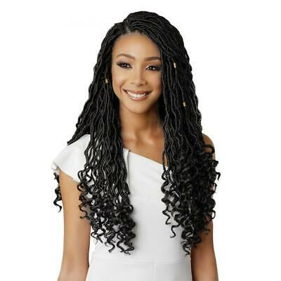 Eerya 6packs Goddess Faux Locs Crochet Hair Braids Wavy with Curly Ends...