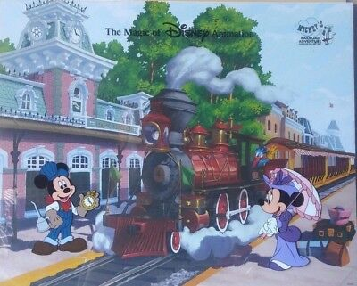 Disney Minnie Mickey Mouse Hand Painted Cel Animation Railroad Adventure