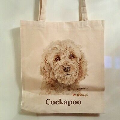 Cream Cockapoo Tote/Shopper/Reusable Bag By Waggy Dogz Fast Despatch