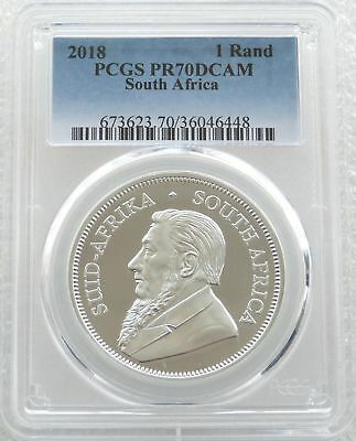 2018 South Africa Krugerrand Silver Proof 1oz Coin PCGS PR70 DCAM - Issue 15,000