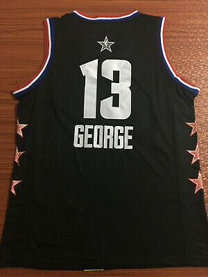 check out aac46 b5f6a NWT OKLAHOMA CITY Thunder Paul George #13 mens black jersey S-2XL