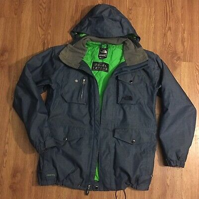6b3e9a6d7 VINTAGE THE NORTH Face Hyvent Recco System Pinstripe Cryptic Jacket M