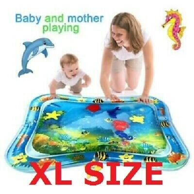Pump+Inflatable Water Play Mat Infants Baby Toddlers Kid Perfect Fun Tummy Time
