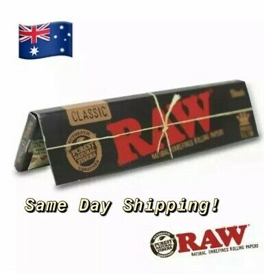 Black Raw Organic Hemp King Size Slim Natural Rolling Papers Smoking Paper
