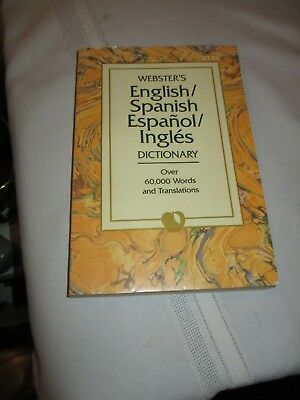 Webster's Spanish-English/English-Spanish Dictionary by Landoll's 60,000+ words.
