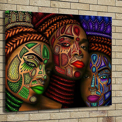 Home Decor African Art HD Prints Canvas Character Painting