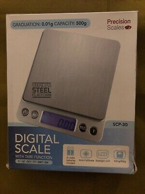 Digital Scale SCP-30 Capacity 500g Graduation: 0.01g Accurate Stainless Steel