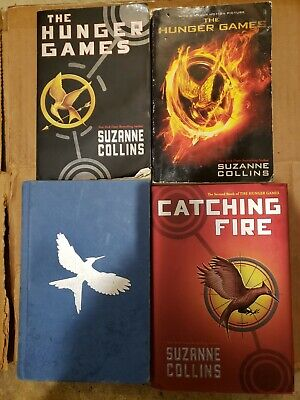 Hunger Games Trilogy Suzanne Collins Books Hardcovers Catching Fire Mocking Jay