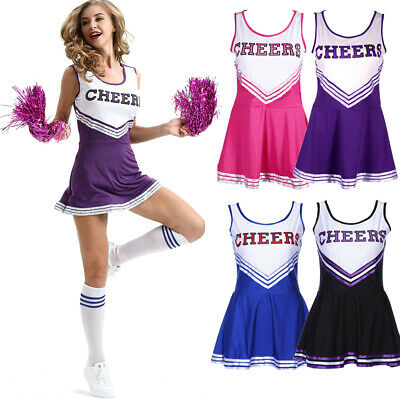 AU Cheerleader High School Prom Musical Uniform Costume Fancy Dress Outfits
