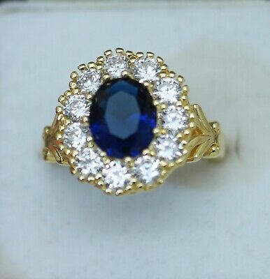 Antique Jewellery Ring Emerald And White Sapphires Vintage Jewelry Size R1/2