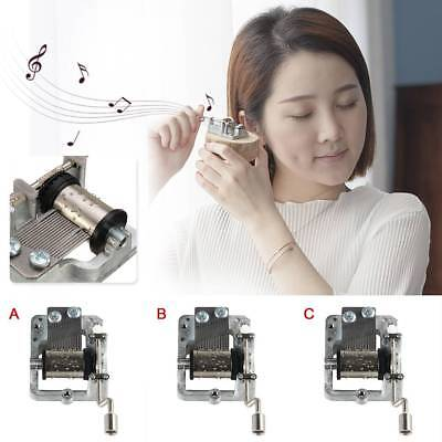 Mini Note Hand Crank Music Box Movement DIY Box + 3 Strips Tape DIY Your Songs