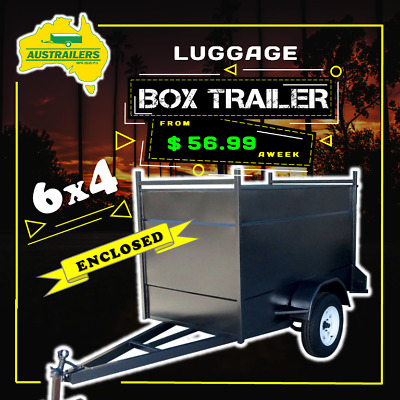 6x4 Enclosed Box trailers Australian Made Heavy Duty - BUY NOW PAY LATER