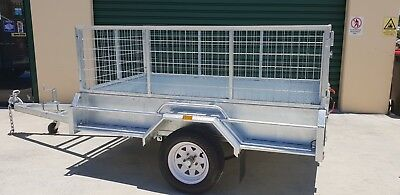 7x4 Hot Dip Galvanized Heavy Duty Box Trailer!