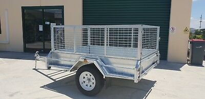 7x5 Hot Dip Galvanized Heavy Duty Box Trailer- BUY NOW PAY LATER!