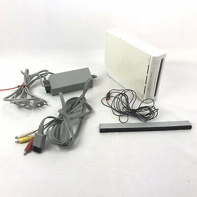 Nintendo Wii Console 2006 American Power Adapter For Parts Extra Sensor Cables