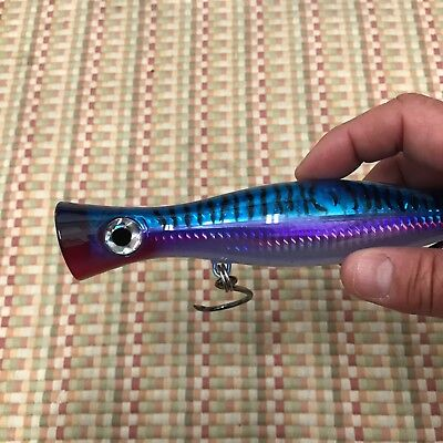 "6 1//2 /""GLOW TUNA POPPER FISHING BAIT LURES TUNA MAHI KING FISH YELLOW TAIL"