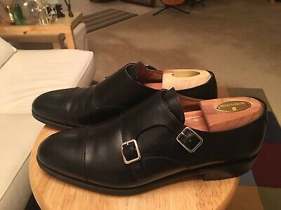 fb78174973a67 Meermin Mallorca Goodyear Welted Black Men s UK9.5 US10 Leather Monk Strap  Shoes