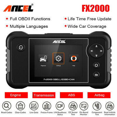 Ancel FX2000 OBD2 Auto Diagnostic Scan Tool CAN Car Code Reader SRS ABS Scanner