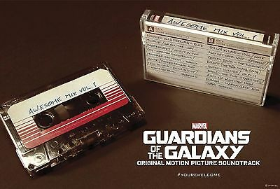 Guardians Of The Galaxy Awesome Mix Vol. 1 Cassette Tape 2014 Rsd Black Friday