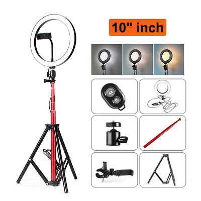 "10"" LED Lighting Kit For Makeup Youtube Live LED Ring Light with Stand Dimmable"