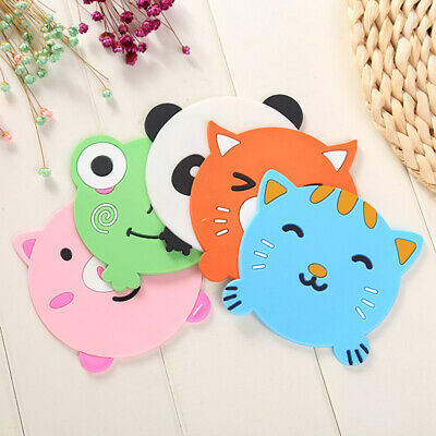 Cartoon Cute Animal Silicone Coaster Cup Cushion Holder Drink Placemat Tea Mat