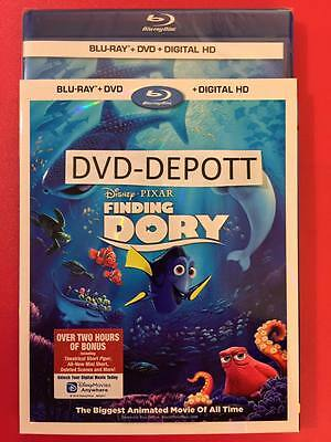 Finding Dory Blu Ray + DVD + Digital HD Slipcover Brand New Fast Free Shipping