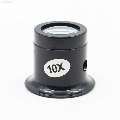 1174 Durable Loupe Jewellery Magnifier Repair Tools 10x Black ABS