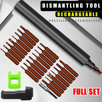 Multi-Functional Mini Rechargeable Electric Screwdriver Set +24 Screwdriver