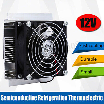 12V 6A Thermoelectric Peltier Refrigeration Cooling System Kit Cooler Fan