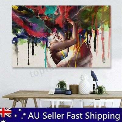 Modern FRAMED Abstract Couple Canvas Print Painting Pictures Home Wall Art Decor