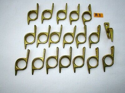 R1) Brass Stair Rod Bracket for 1.3cm rod. Price is per pair of brackets.