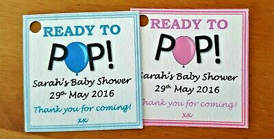 Ready To Pop Personalised Baby Shower Favour Labels * Gift Tags * Thank You Tags