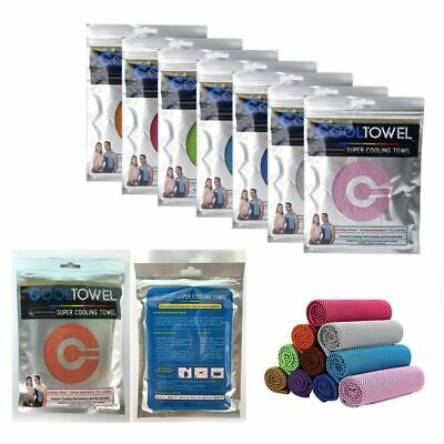 INSTANT COOLING TOWEL Dry Drying ICE Cold Golf Cycling Jogging Gym Run Sports UK