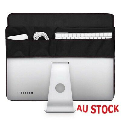 """Soft Cover Monitors Black Computer Cover For iMac 21.5/27"""" Protective Dust Case"""