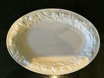 Marks & Spencer Embossed Oval Platter - White