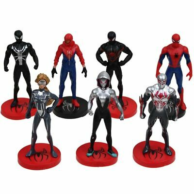 7Pcs/Set The Avengers Spider-Man Homecoming Into Spider-Verse Action Figure Toys