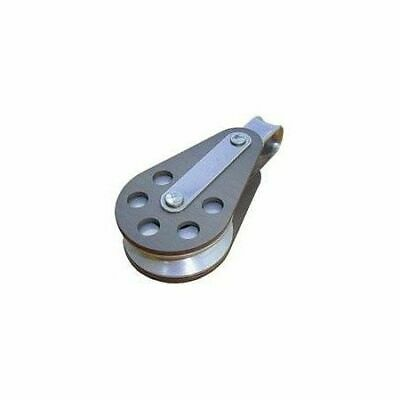 Wire rope single aluminum block with fixed eye 51mm BARTON
