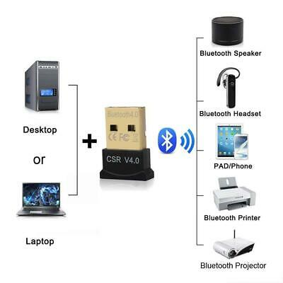 Wireless USB Bluetooth V4.0 CSR Dongle Adapter for Windows 7 8 10 PC Laptop LIGH