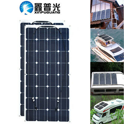 2x100w Solaire Solar Panel 200w 16V Monocrystalline for Boat Home RV Car Camping