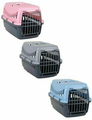 Pet Dog Puppy Cat Carriers Basket Bag Cage Portable Travel Kennel Box Vet W/Door