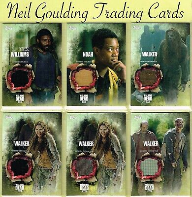The Walking Dead - SEASON 5 ☆ AUTHENTIC WARDROBE/PROP/RELIC ☆ Trading Cards