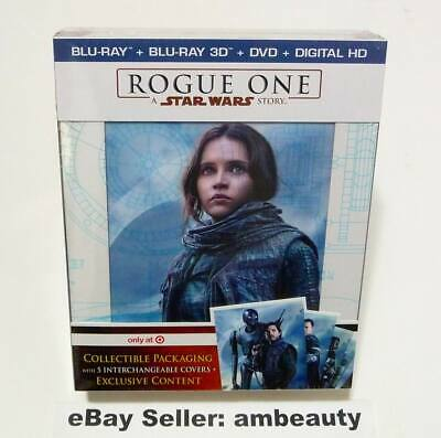 NEW Rogue One: A Star Wars Story Target Exclusive Blu-Ray 3D/DVD/Digital HD Set