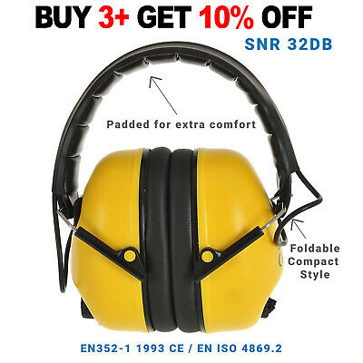 1, 5, 10 Folding Pro Ear Defenders 32dB Protection, Foldable Compact Style