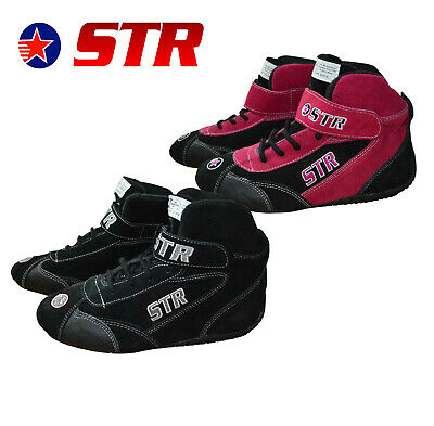 STR Oval Race Boots SFI 3.3/5 Approved / Racing / Rally / Fire Retardant - Adult