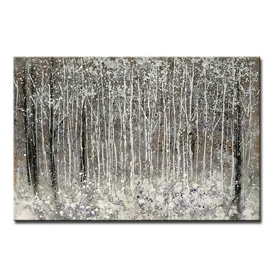 Hand painted Abstract Trees Oil paintings on Canvas Wall Art Home Decor Big Size