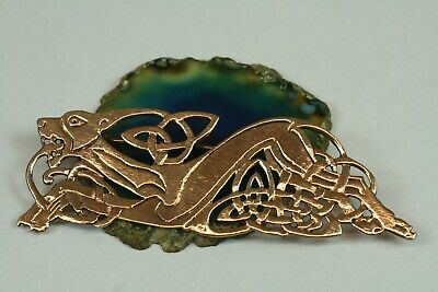 Brooch Celtic Dog Bronze Big Celtics Celtic Knots Dog Cloth Nail
