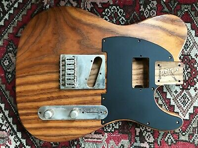 WARMOTH ROASTED ASH Telecaster Body Micawber Keef Humbucker Relic'd Hardware