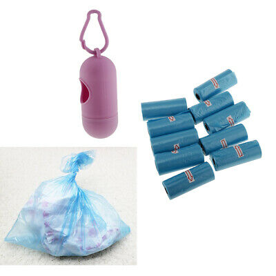 Purple Hanging Baby Diaper Garbage Bag Dispenser Box with 10 Waste Bags