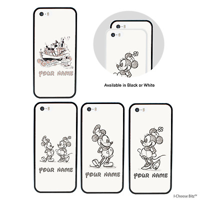 Mickey Mouse Personnalisé Douane Nom Coque Apple iPhone