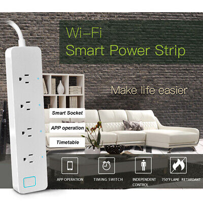 Smart Extension Socket WIFI  Power Strip Voice Control Outlet For Amazon Alexa
